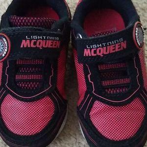 Lightning McQueen size 7 toddler shoe